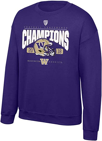 Elite Fan Shop Washington Huskies Tshirt Arch Purple