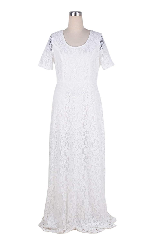 bc0f459fcbe Suimiki Damen Übergröße schnüren Gefüttert Kleid Festlich Kleider Elegant  Lang Abschlussball-Kleid-Cocktailparty Ballkleid Brautkleider