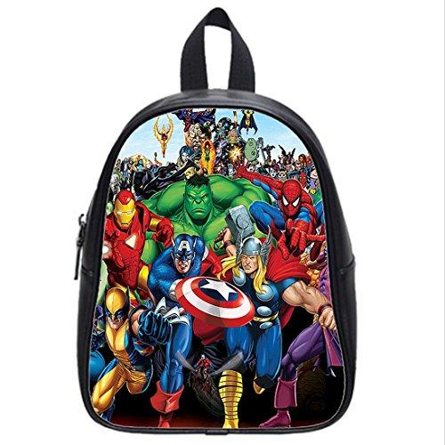 Custom Unisex Leather Teenager School bag(Mochilas) Marvel Comics Printed Casual Travel Backpacks Large: Amazon.es: Ropa y accesorios