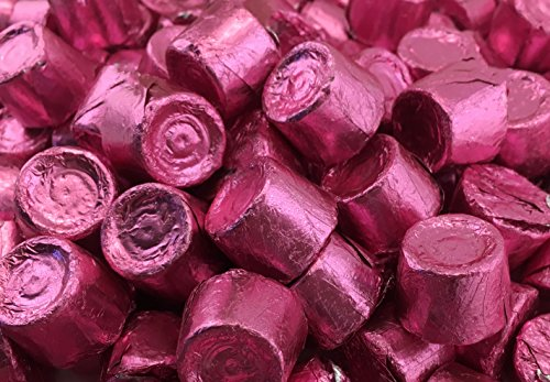 LaetaFood Bag - ROLO Chewy Caramels in Milk Chocolate, Pink foil (Pack of 2 -