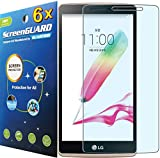 """6x LG G Stylo Stylus G4 4G LTE LS770 H631 w/5.7"""" LCD Premium Clear LCD Screen Protector Guard Kit (6 pieces by GUARMOR)"""