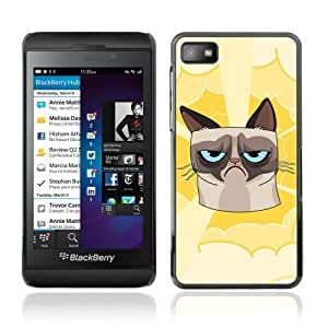 YOYOSHOP [Funny Grumpy Cat Illustration] Blackberry Z10 Case