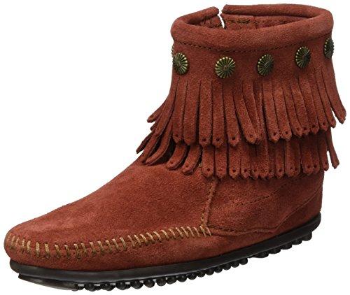 Stivali Side da Boot Brandy Minnetonka Zip Double Fringe Mocassino Suede donna WEnOSqX4S