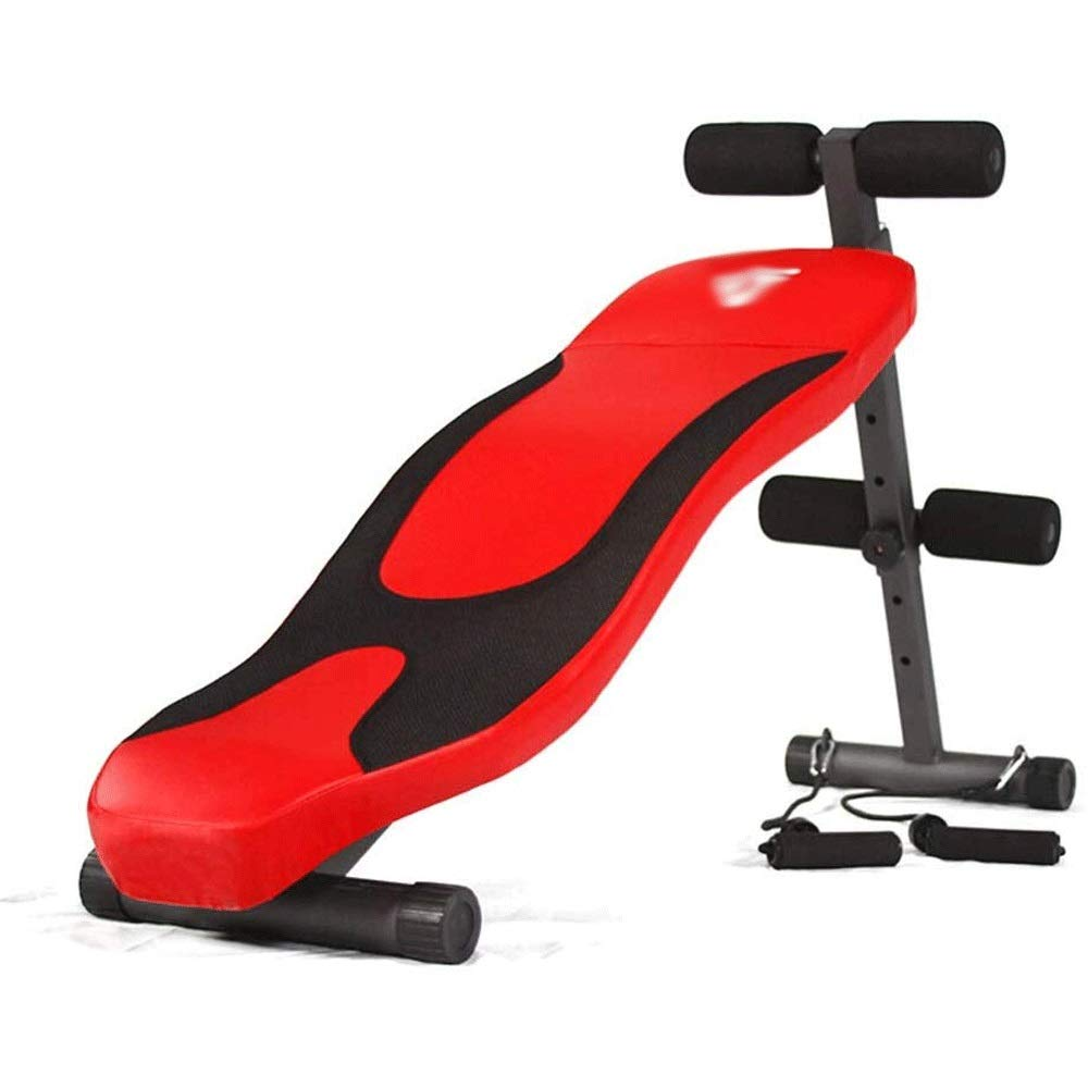 LEFJDNGB 12キロについて、理事会をアップ座る腹筋腹筋フィットネス機器ホーム多機能腹部シットアップボード腹部ボードブラックレッド (Color : 赤) 赤