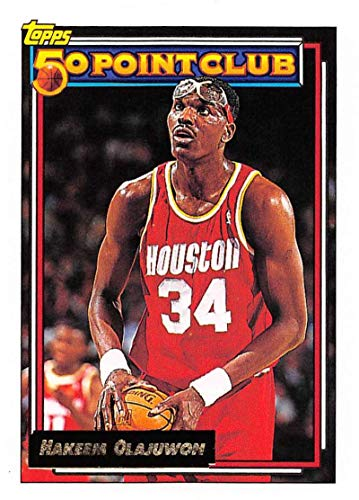 1992-93 Topps Gold Basketball #214 Hakeem Olajuwon Houston -