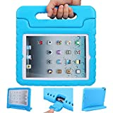 iPad air 2 case, ipad 6 case, ANTS TECH Light Weight [ Shockproof ] Cases Cover with Handle Stand for Kids Children for iPad air 2 (6) (iPad Air 2 (6), Blue)