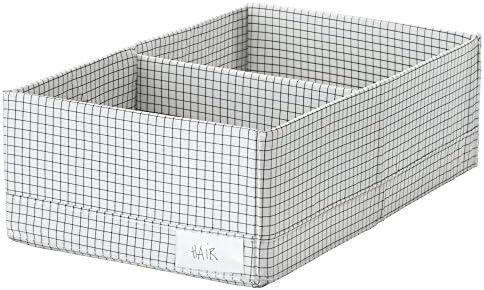IKEA ASIA STUK - Caja con Compartimentos 34x20x10 cm, Color Blanco ...