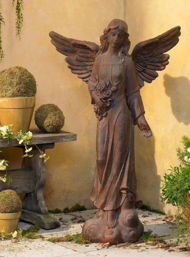 English Tudor Garden Angel 41 1/2'' High Statue by Kensington Hill (Image #1)