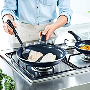 GreenLife CW001923-004 Diamond Healthy Ceramic Nonstick Dishwasher Safe Oven Safe Stay Cool Handle Pots and Pans