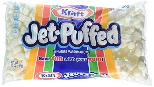 Kraft Jet Puffed Mini Marshmallows, 10 Ounce Bag (Pack of