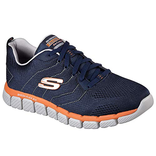 Flex 2 Shoes Milwee Skech Nvor 0 Low Black Top Men's Blue Skechers 8xtnEt