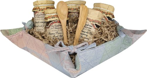 Jellies and Jams the Ultimate Preserves Gift Basket in Provence Bread Basket Tray