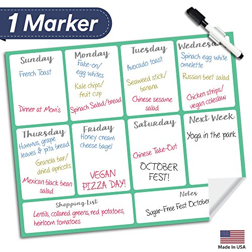 Dry Erase Meal Planner Calendar product image
