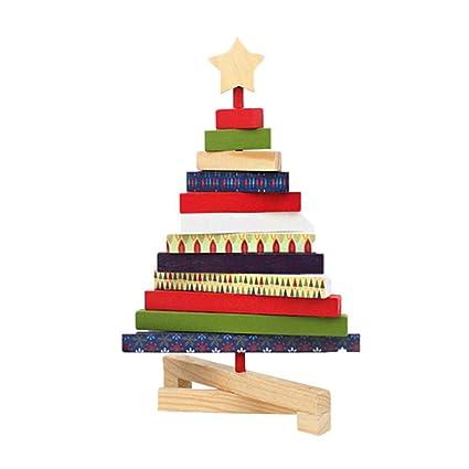 Rotating Wooden Tabletop Christmas Tree Desktop Christmas Ornaments  Christmas Decorations Creative Gifts Christmas Tree for Desk - Amazon.com: Rotating Wooden Tabletop Christmas Tree Desktop