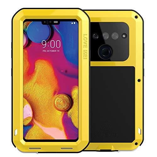 LG V40 ThinQ Case, LG 40 Case Heavy Duty, Armor Aluminum Alloy Metal Case Cover Bumper Hybrid Soft Rubber Military Shockproof Outdoor Hard Defender Men Gift for LG V40/V40 ThinQ Feitenn - Yellow
