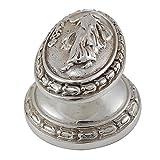 Vicenza Designs K1032 Sforza Woman Oval Knob, Large, Polished Nickel