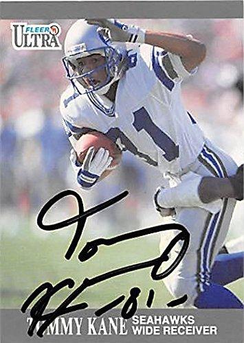 Tommy Kane Autographed Football Card Seattle Seahawks 1991 Fleer