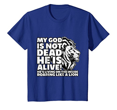 Kids My God is Not Dead He is Alive T-Shirt Words Of Inspiration 8 Royal Blue - Bible Verses Gods Word