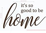 Kitchen Décor So Good to Be Home Vinyl Wall Decals Art 23x15-Inch Chocolate Brown