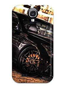 For Galaxy S4 Protector Case Metallic Black Car Phone Cover