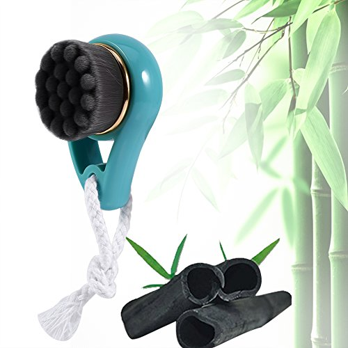 New Bamboo Charcoal Facial Cleansing Brush Soft