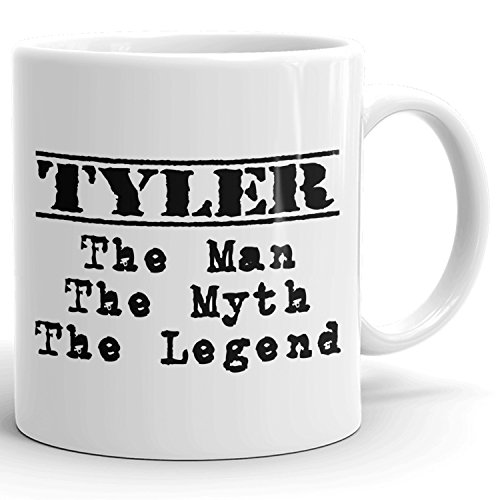 Best Personalized Mens Gift! The Man the Myth the Legend - Coffee Mug Cup for Dad Boyfriend Husband Grandpa Brother in the Morning or the Office - T Set 1