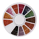 Nail Art,Putars New Colour Steel Bead 3D Round Nail Studs Nail Rhinestone Nail Art Decoration