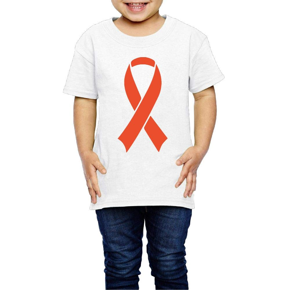 XYMYFC-E Leukemia Cancer Awareness Ribbon 2-6 Years Old Boys /& Girls Short-Sleeved T Shirt