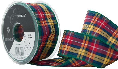 Berisfords 40 mm Polyester Tartan Ribbon, Buchanan -