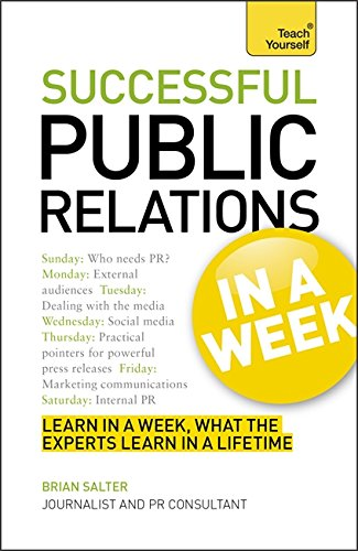 Successtul Public Relations in a Week. (Teach Yourself)