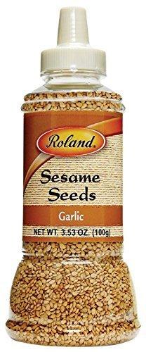 Roland Garlic Sesame Seeds 3.53 Oz (12 Pack)