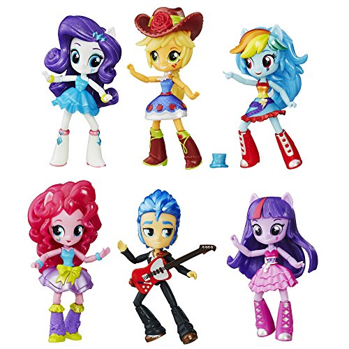 (Hasbro B8892 - My Little Pony Toy - Equestria Girls School Dance Collection - 6 x Mini Doll Playset)