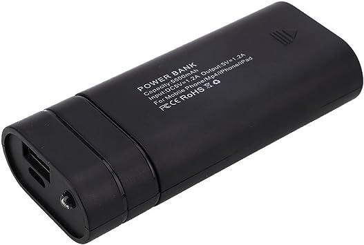 Fenghong 2-Slot 18650 Battery Charger Box Portable, 5V USB Power ...
