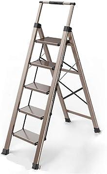 Escalera plegable Escalera de cinco peldaños, Escalera de ingeniería Escalera exterior portátil Escalera de fotografía Escalera de balcón de metal Escalera plegable Multifuncional: Amazon.es: Bricolaje y herramientas