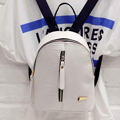 Travel Backpack,Hemlock Teenagers Girls Shoulder Bag School Backpack Bag (White)