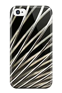 High Quality Shock Absorbing Case For Iphone 4/4s-metallic Spring