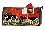 Farm Animals Cow Cock Customized Magnetic Mailbox Cover Home Garden Cute MailBox Wraps Vinyl with Full-surface Magnet On Back