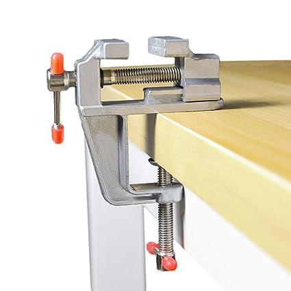Senzeal Aluminum Alloy Miniature Clamp Mini Table Bench Vice