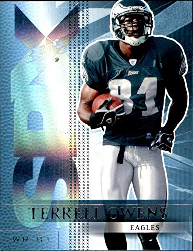 Terrell Owens Philadelphia Eagles HOF 2018 Hall of Fame 2004 SPx #73 NFL Football Card