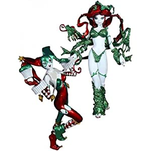 DC Collectibles Ame-Comi: Harley Quinn and Poison Ivy Holiday PVC Figures, 2-Pack