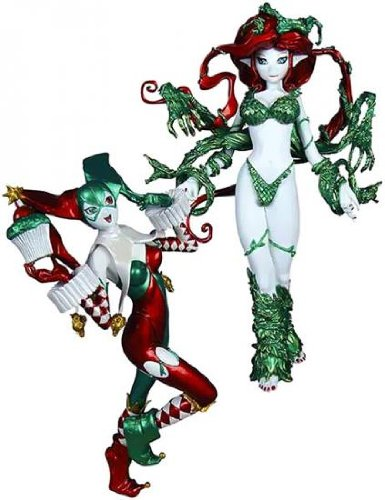 DC Collectibles Ame-Comi: Harley Quinn and Poison Ivy Holiday PVC Figures, 2-Pack 3