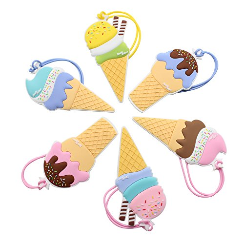 Mziart Cute Ice Creams Luggage Tags for Women Kids Girls Fam