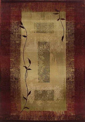 Oriental Weavers Generations Area Rug, 24 x 8 Runner, Maroon Grey