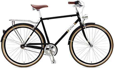 Zycle Fix Civic Men - Black Cooper - Men City Series 7-Speed Urban Commuter Bike