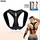 iWEAR Back Posture Corrector for Women and Men | Posture Trainer Back Brace for Clavicle Support Back Straightener | Shoulder Support for Kyphosis Scoliosis & Neck Hump
