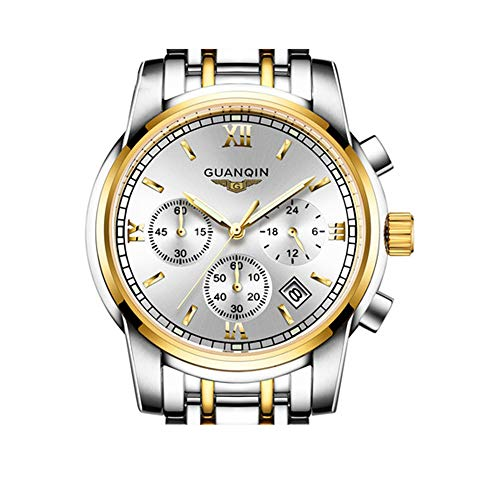 Men's Stainless Steel Multi-Function Specialty Master Watch, Day, Date and tachymeter Display