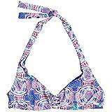 Roxy Women's Print Strappy Love Reversible Athletic Triangle Bikini Top, Marshmallow Land of Tehotihuac, L