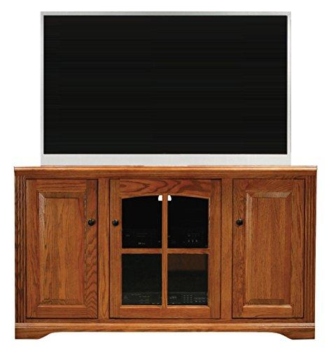 "Eagle 93755PLLT Oak Ridge Thin Corner Entertainment Console, 55"" Tall, Light Oak Finish"