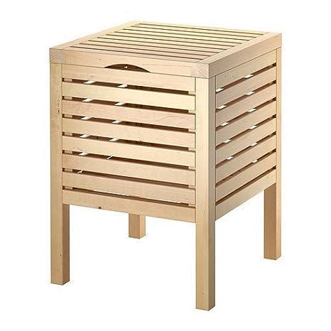 IKEA sgabello da bagno con contenitore MOLGER, in legno di faggio ...
