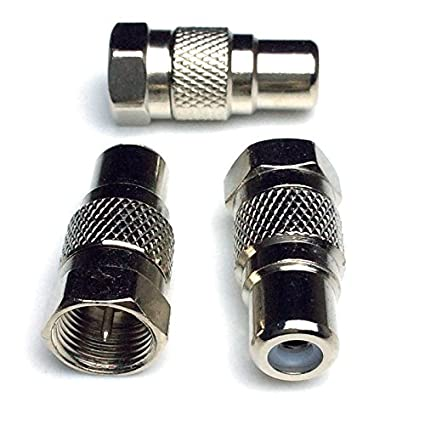 Amazon.com: CESS F Type Male to RCA Female Connector Coupler Coax Cable Adapter Video - F Male to RCA Female (LW) (10 Pack): Home Audio & Theater